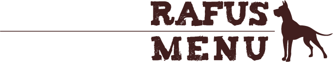 RAFUS MENU - natural raw dog food